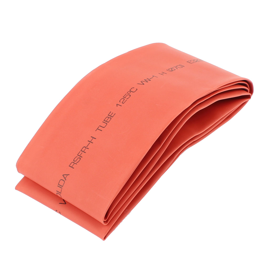 70mm Dia Ratio 2:1 Heat Shrinkable Shrinking Tube Wrap Tubing 2M Red