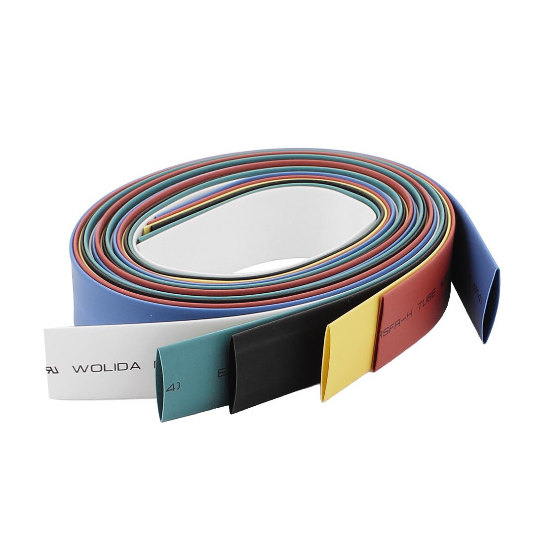 14mm Dia Heat Shrink Tubing Shrinking Tube Sleeve Wrap Wire 3.2Ft 6pcs