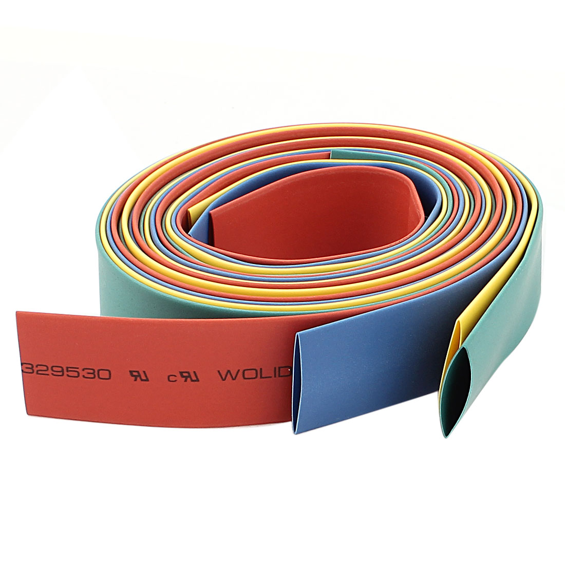 14mm Insulation Wire Wrap Heat Shrink Tubing 3.2Ft Assorted Color 6pcs