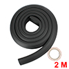 Table Edge Cushion Guard 2m Black Baby Toddler Safety Proofing w Adhesive Tape