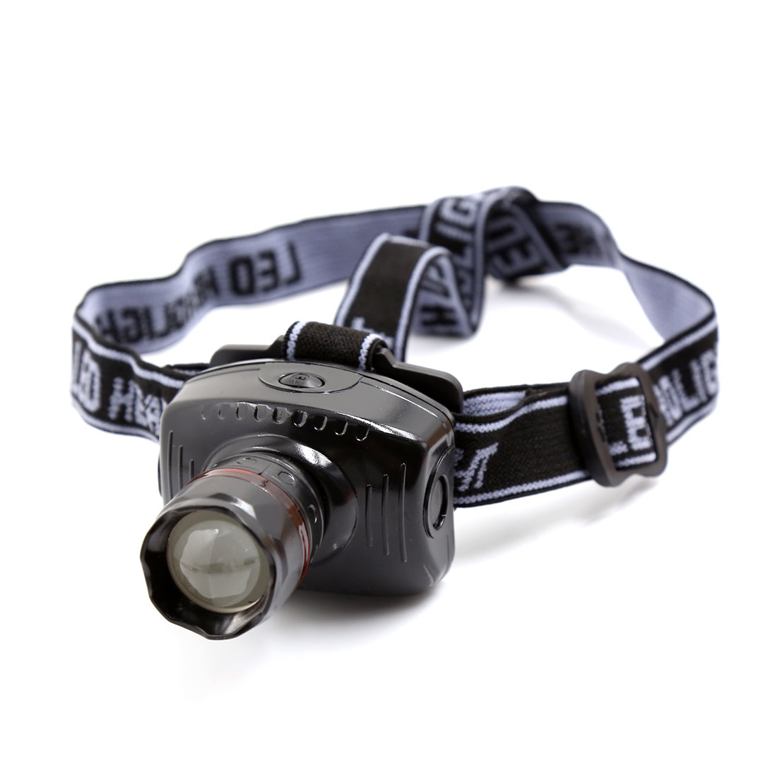 Outdoor Camping Hiking Elastic Headstrap White LED Zoomable Headlight Headlamp