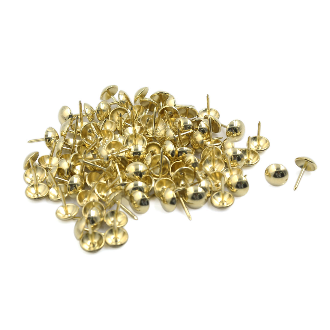 Corkboards Message Boards Round Top Wall-Mounted Thumb Tacks Gold Tone 100pcs
