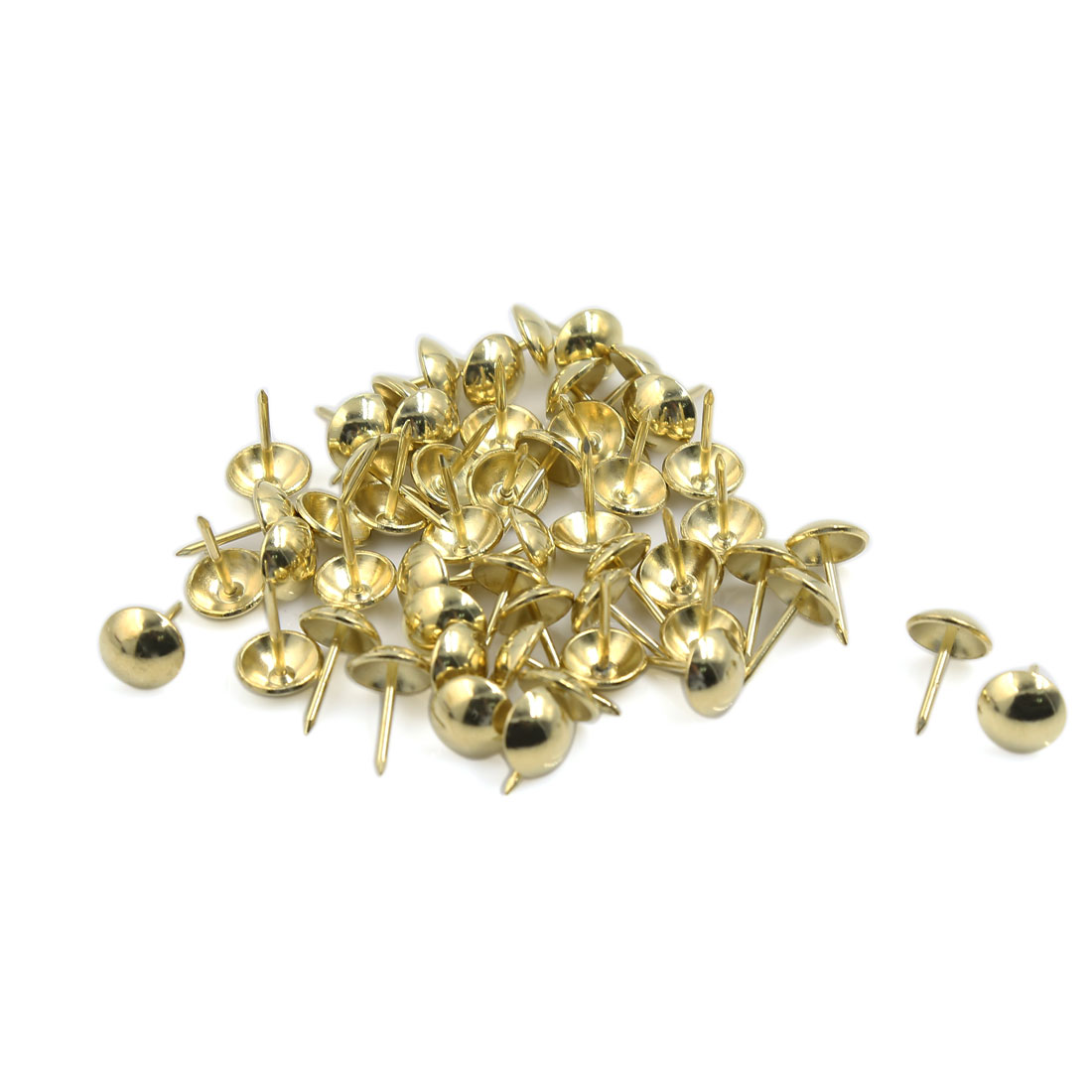 Board Corkboard Photo Thumb Tacks Drawing Pins Gold Tone 11mm Dia 50 Pcs