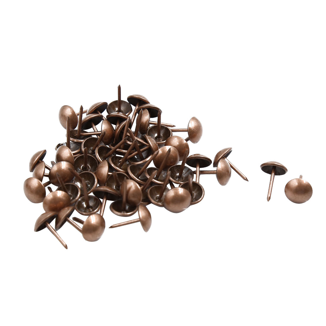 Office School Corkboards Message Boards Thumb Tacks Pushpins Copper Tone 50pcs