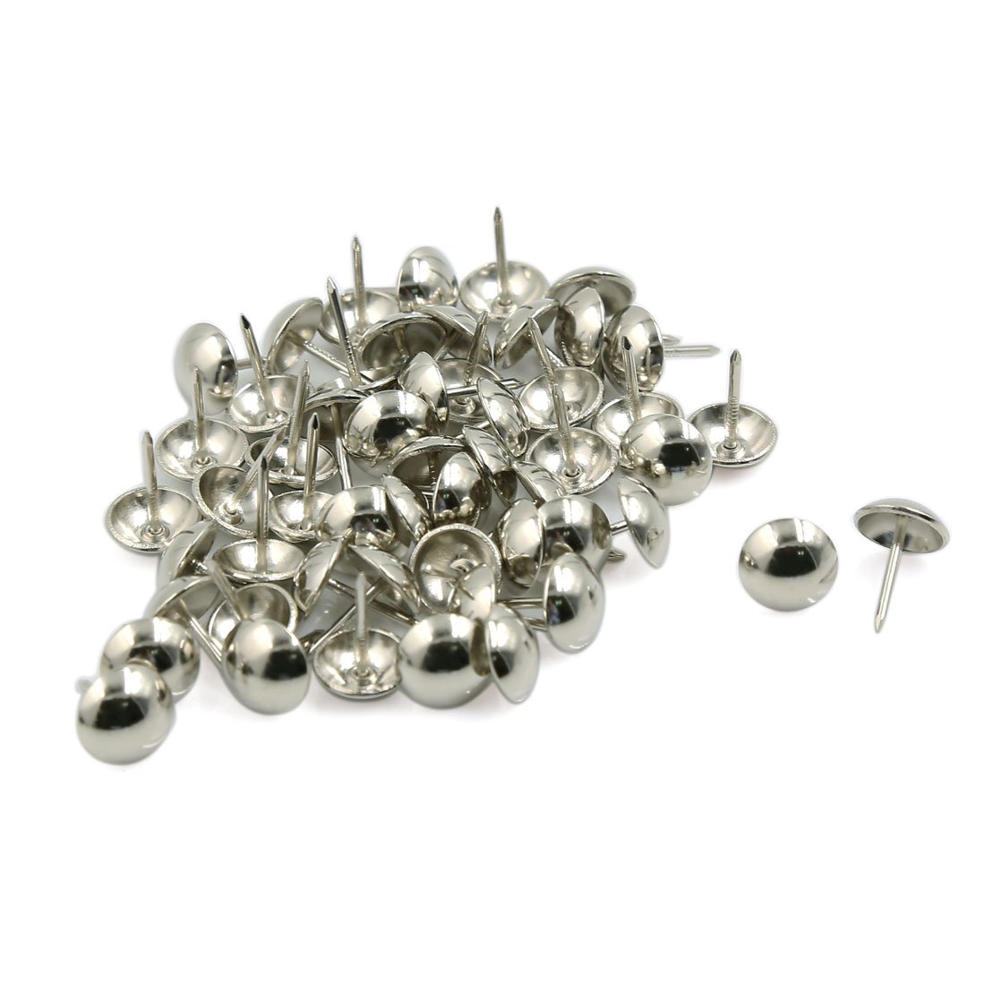 Corkboards Message Boards Steel Wall-Mounted Thumb Tacks Sliver Tone 50 Pcs