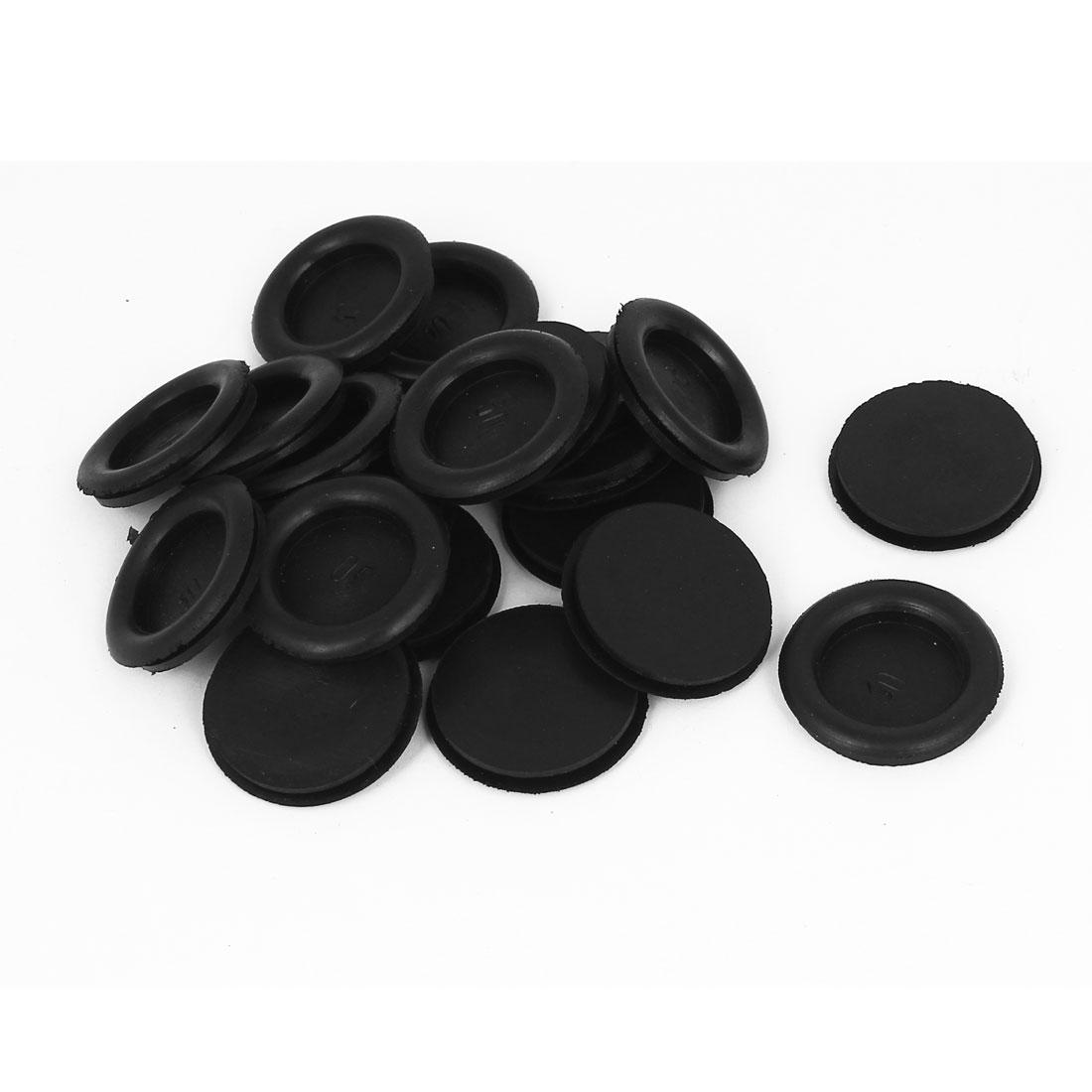 20pcs Black Rubber Closed Blind Blanking Hole Wire Cable Gasket Grommets 30mm