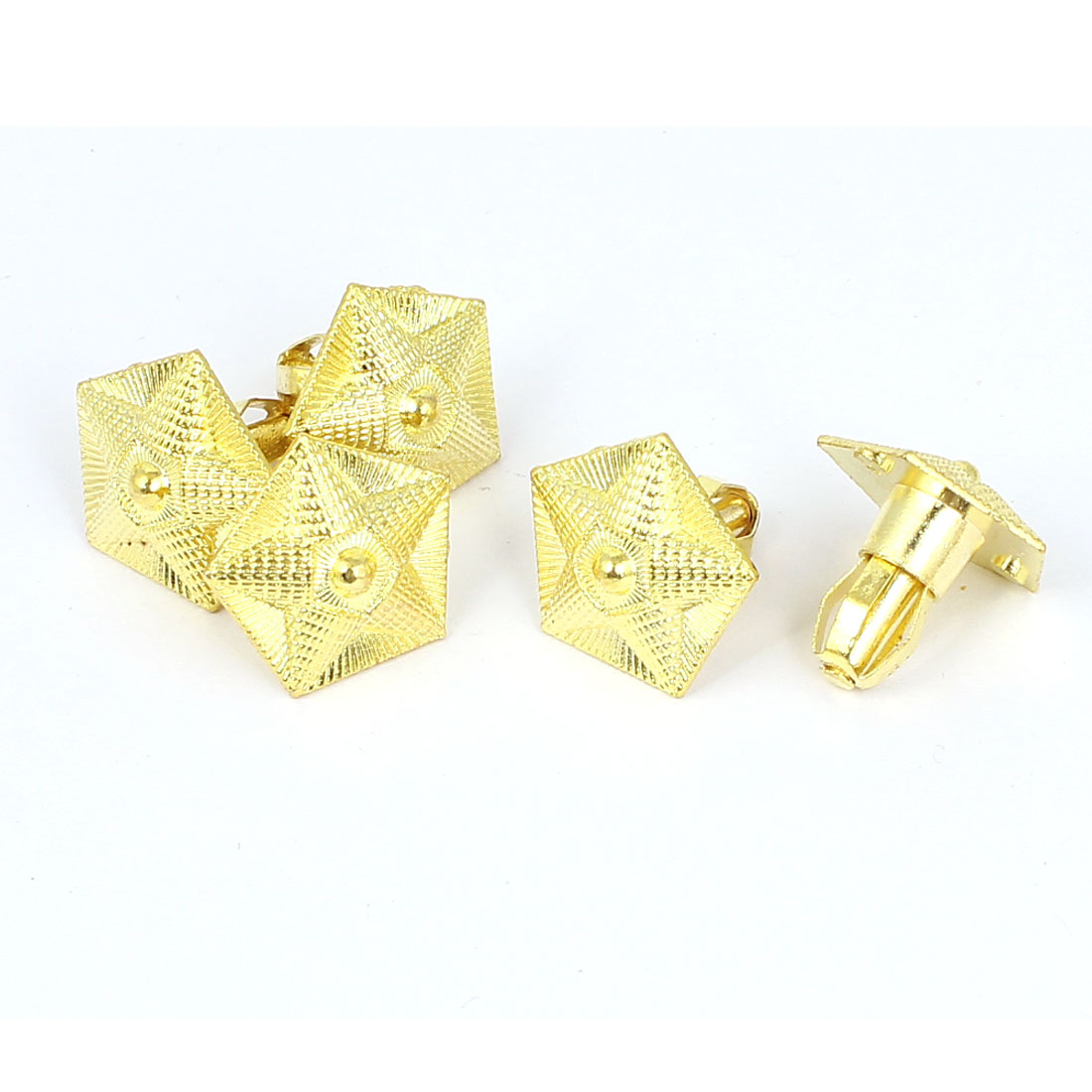 Jewelry Box Case Snap in Mount Star Shape Metal Pull Handle Grip Brass Tone 5pcs