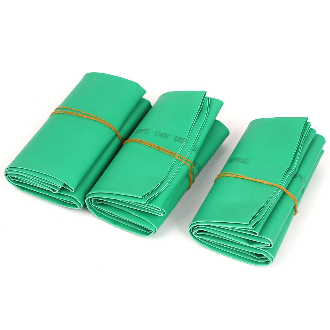Green 70mm Diameter 2:1 Polyolefin Tube Sleeving Heat Shrink Tubing 1M 3pcs