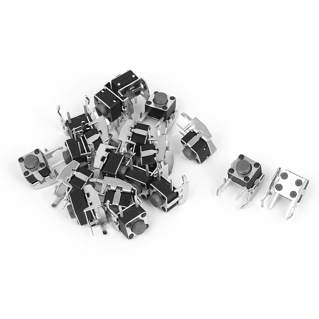 20pcs Momentory Push Button Tact Tactile Switch 2-Terminal 11x9x8mm w Bracket
