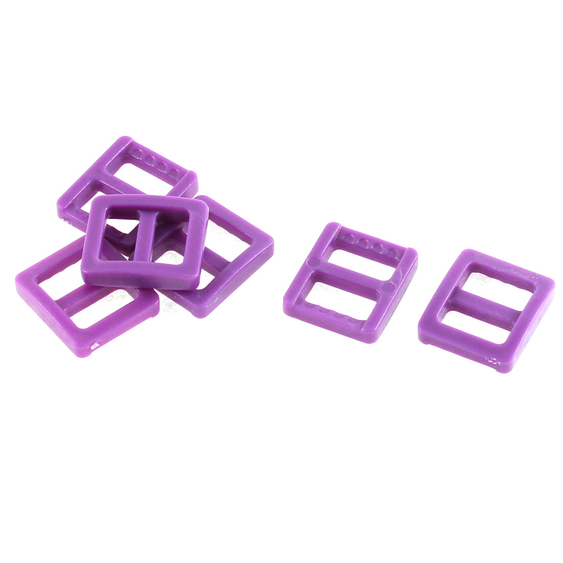 Backpack Handbag Hard Plastic Repairing Tool Tri Glide Buckle Dark Purple 6 Pcs