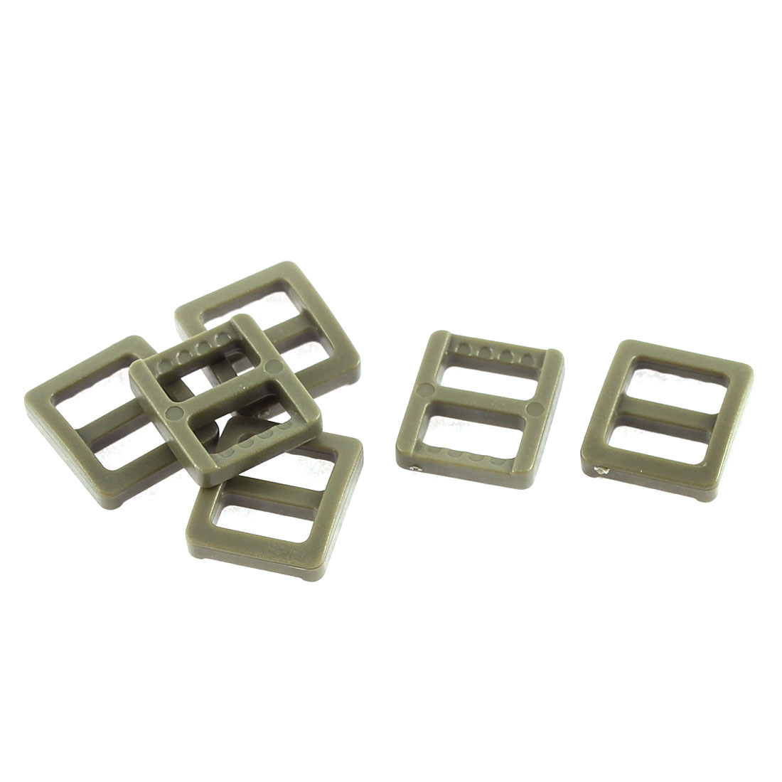Backpack Handbag Hard Plastic Repairing Tool Tri Glide Buckle Army Green 6 Pcs