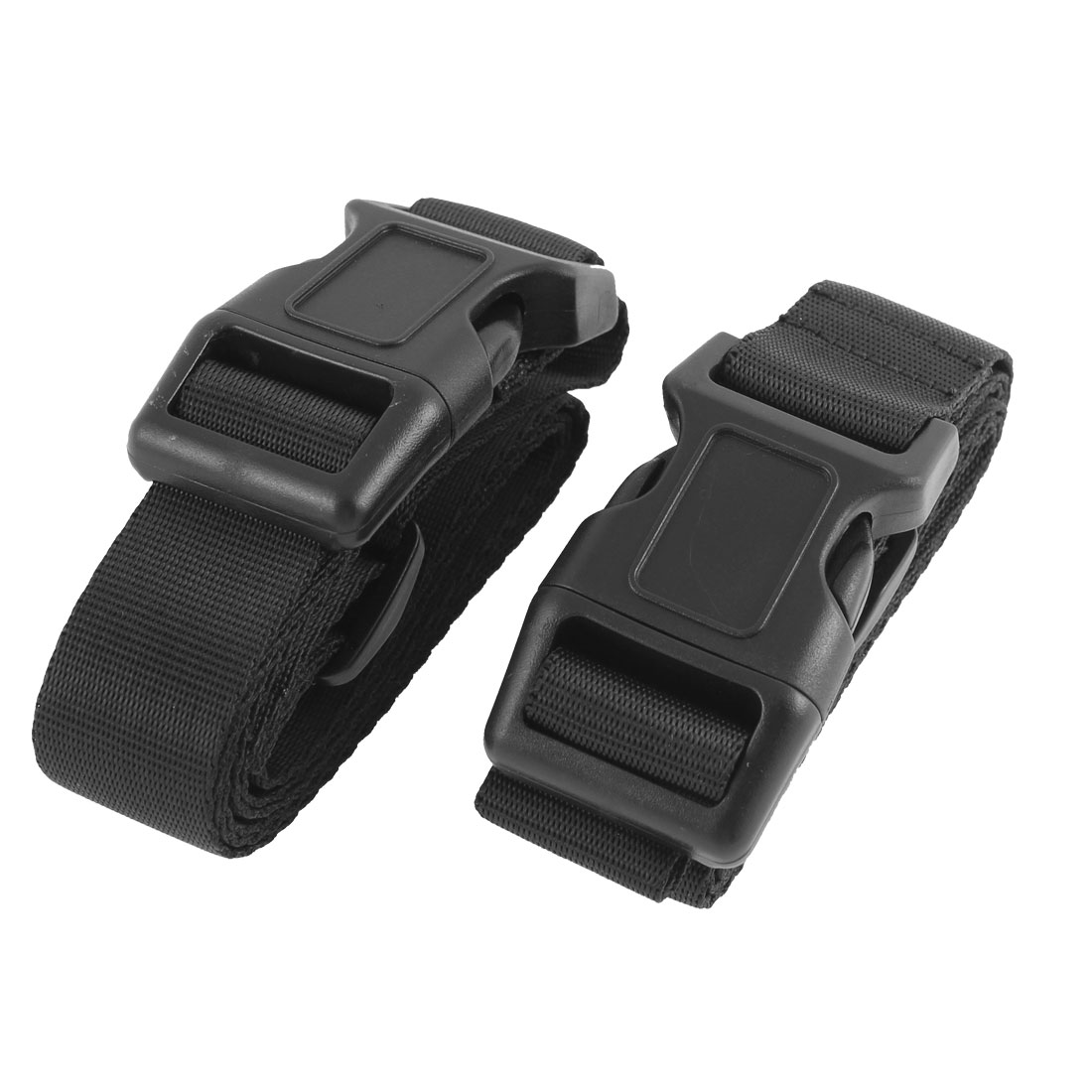 Polypropylene Adjustable Travel Luggage Suitcase Backpack Belt Tie Down Strap Black 1m 2 Pcs