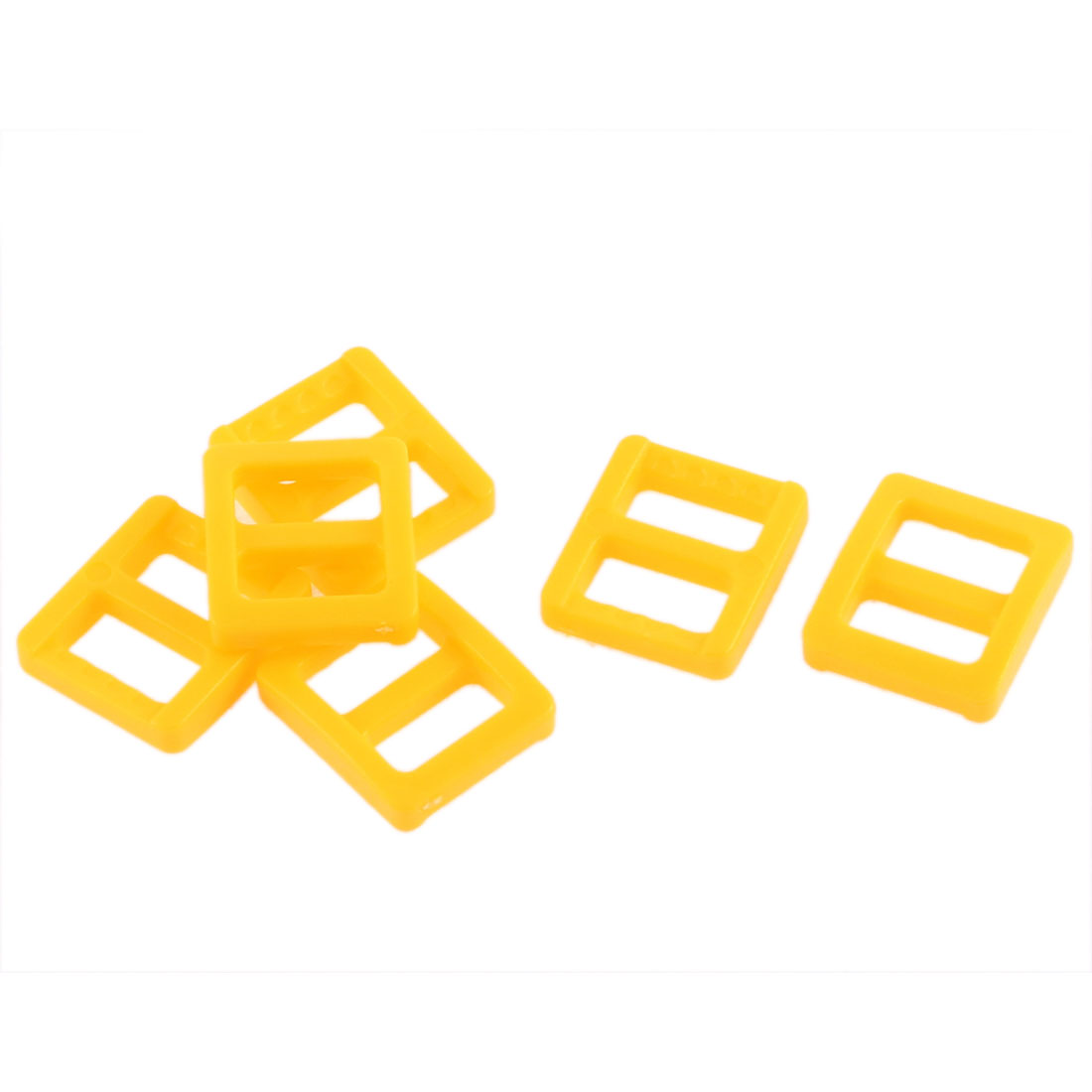Backpack Handbag Hard Plastic Repairing Tool Tri Glide Buckle Yellow 6 Pcs