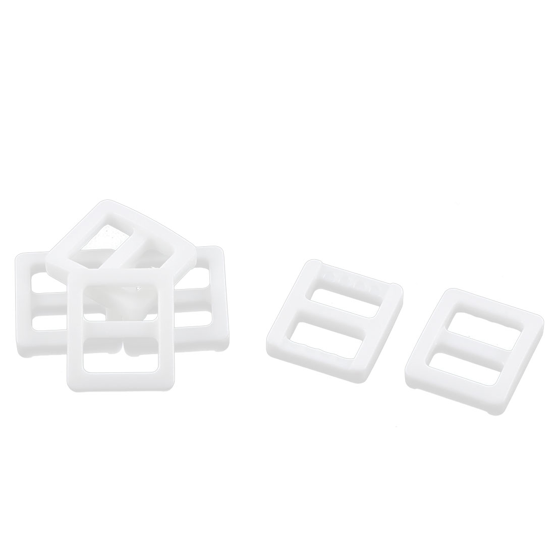 Backpack Handbag Hard Plastic Repairing Tool Tri Glide Buckle White 6 Pcs