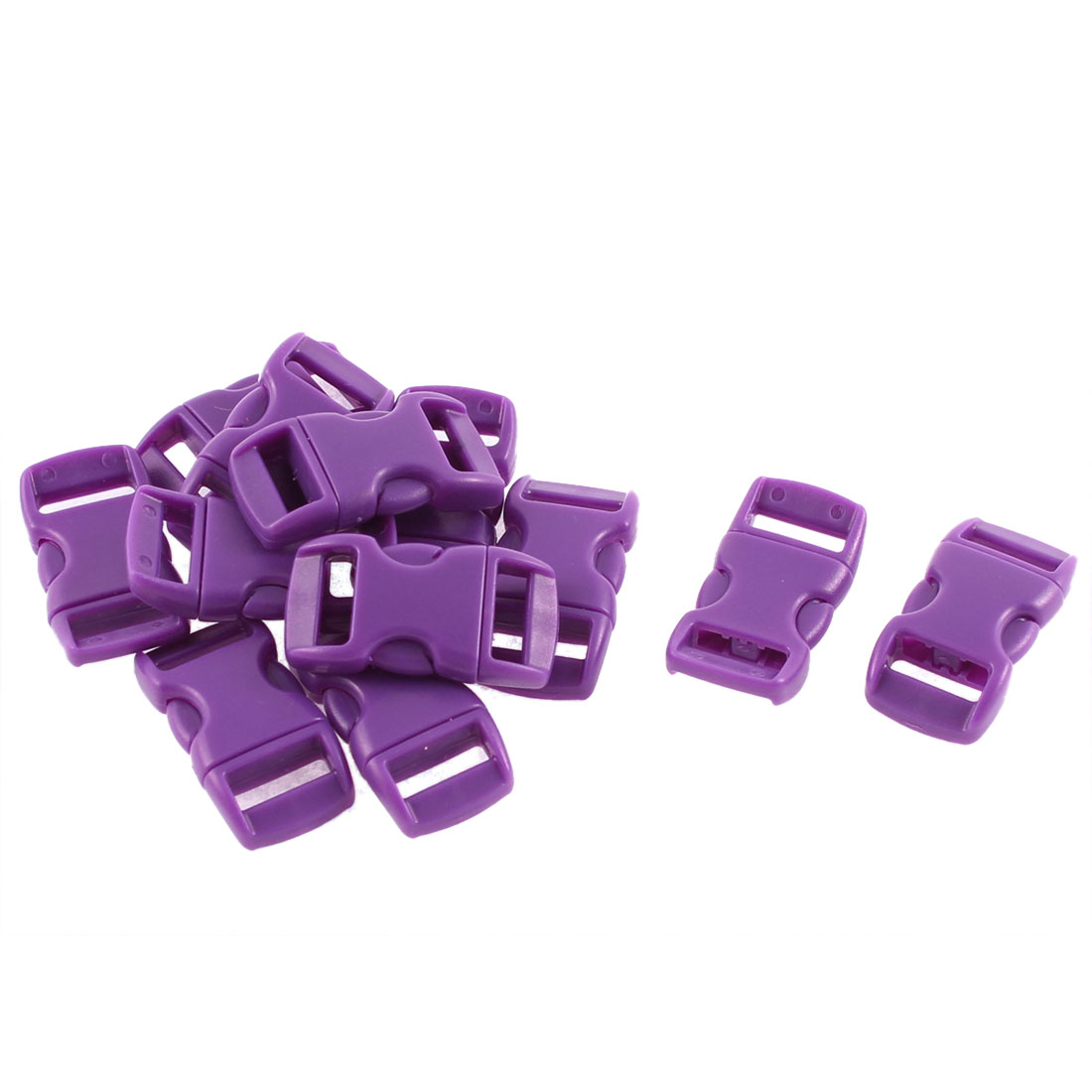Webbing Strap Backpack Plastic Side Release Buckle Purple 11mm Band 12pcs