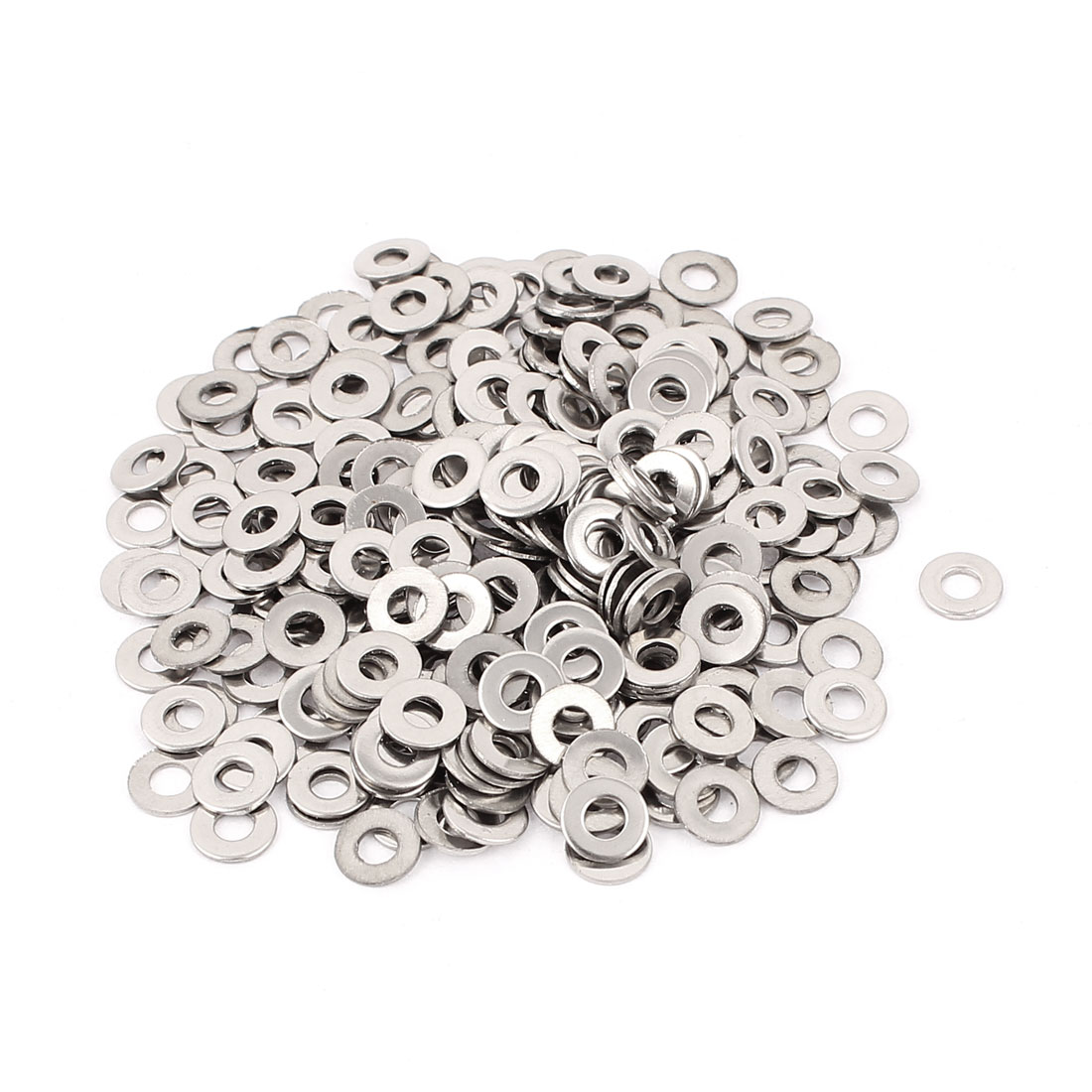 300pcs 3mm Flat Stainless Steel Washers Spacers for M3 Threaded Screws