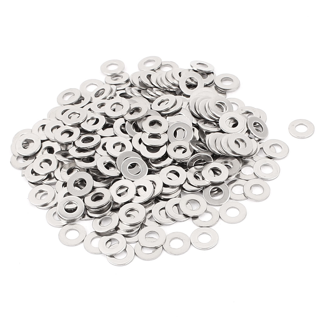 300pcs Stainless Steel 4mm Flat Washers for M4 Threaded Screws