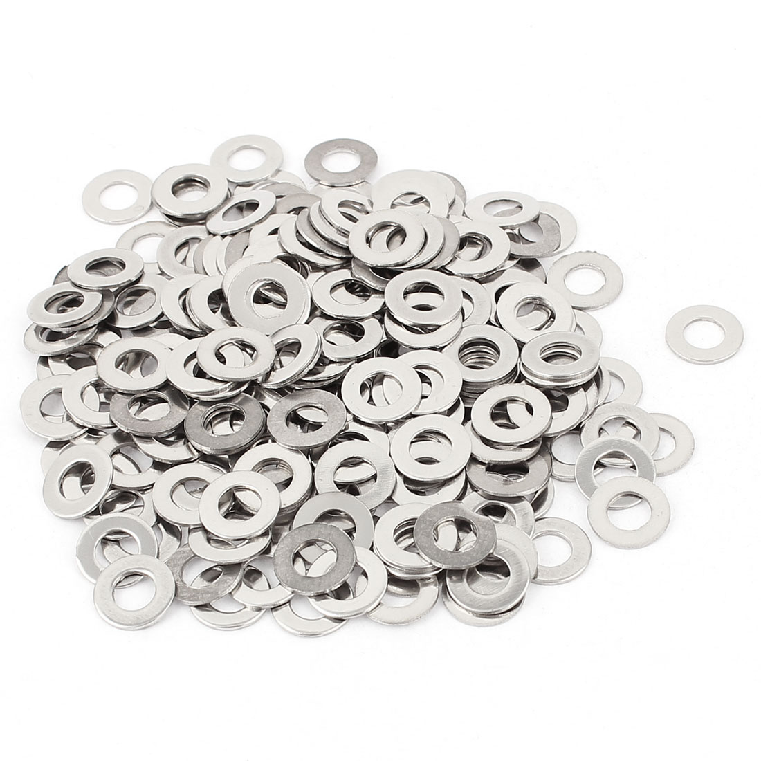 Bolt Nuts Stainless Steel M5 Flat Washer Spacer Silver Tone 200pcs