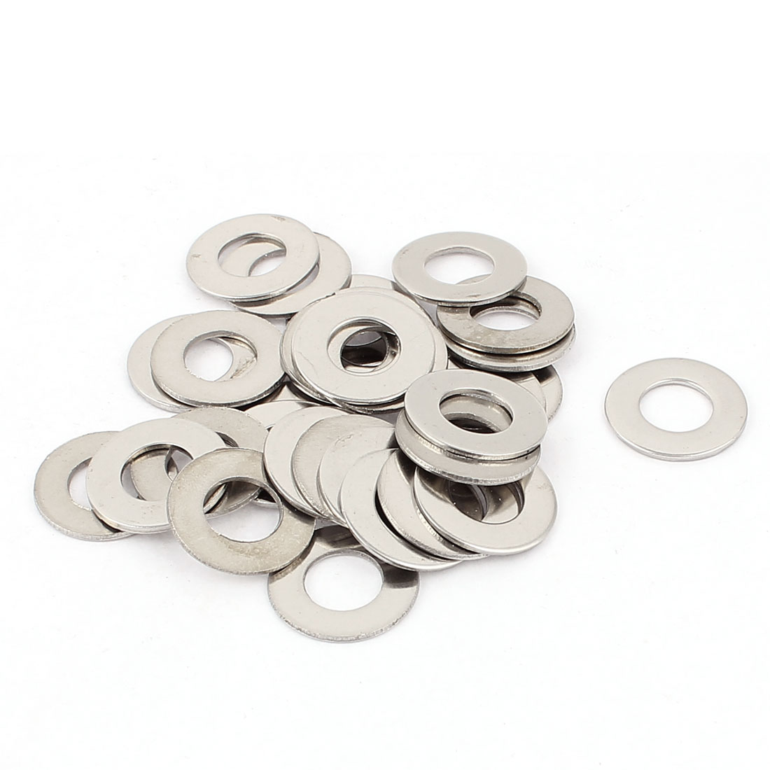 30pcs 304 Stainless Steel M10x20mm Flat Spacer Washers