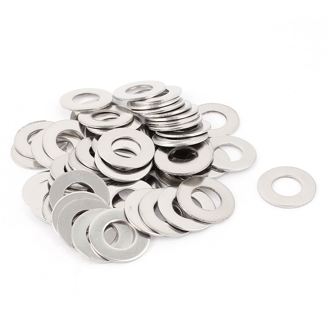 Screw Bolt 304 Stainless Steel M10 Flat Spacer Washer Gasket 50pcs