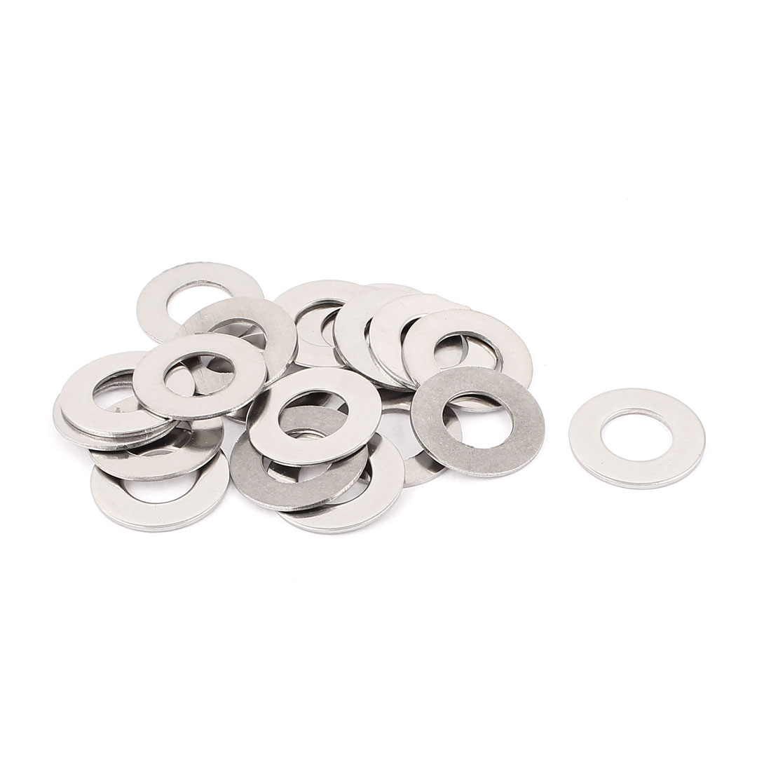 20pcs 304 Stainless Steel M12 Thin Flat Washers Silver Tone