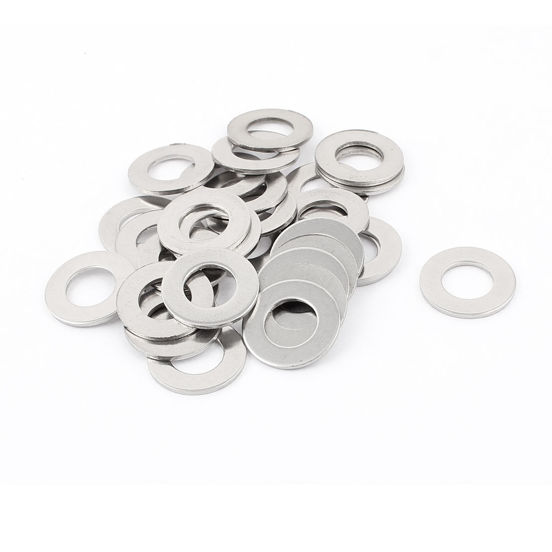 30pcs Stainless Steel M14 Round Flat Washer Spacers for Bolt Screw