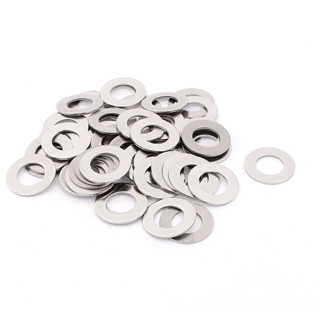 50 Pcs 304 Stainless Steel Flat Washer M16 x 29mm x 1.5mm for Screws Bolts