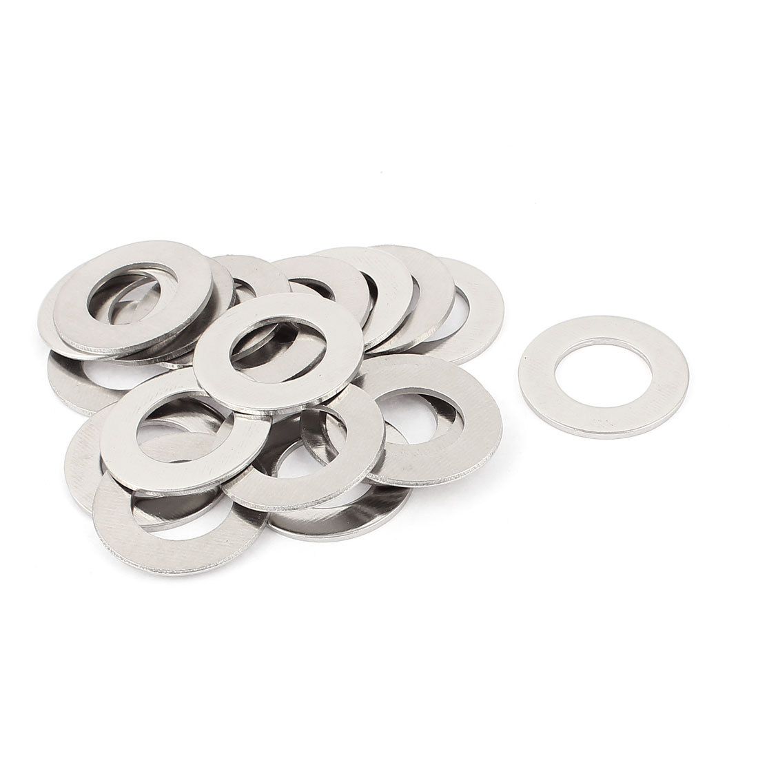 20pcs 304 Stainless Steel M20 Thin Plain Flat Washer Silver Tone