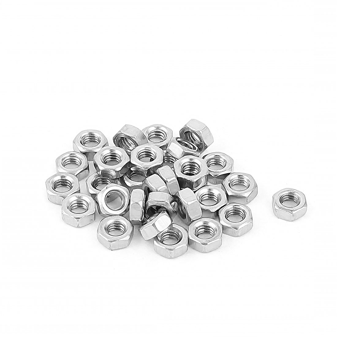 30pcs 304 Stainless Steel M4 4mm Hex Screw Nut Hexagon Nuts Fasteners