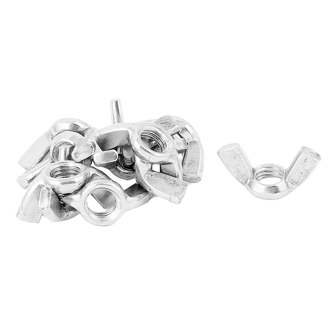 10pcs 304 Stainless Steel M12 Thread Butterfly Nut Wingnut Silver Tone