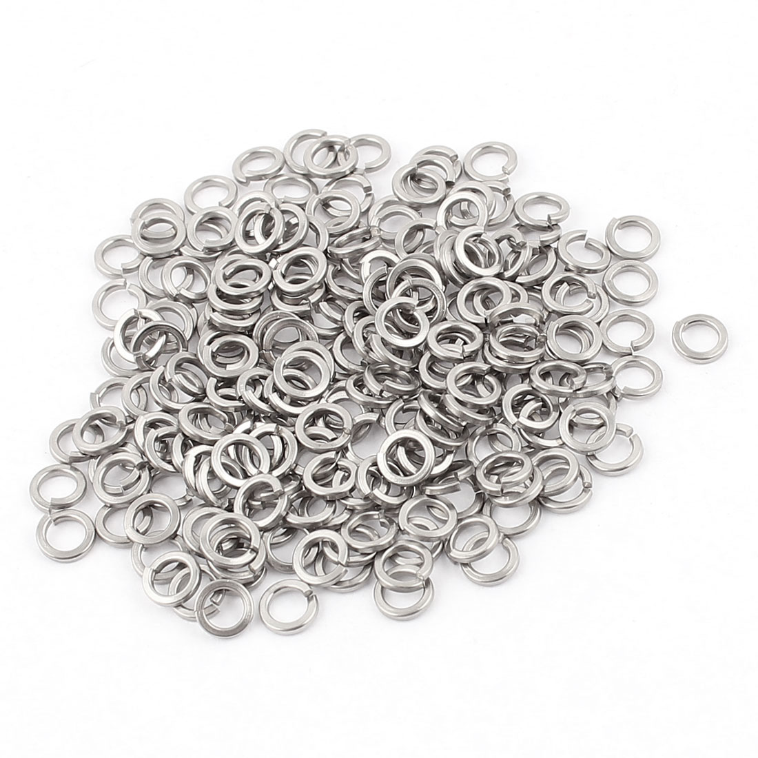 200pcs 304 Stainless Steel M3 Split Lock Spring Washers Pad Gasket