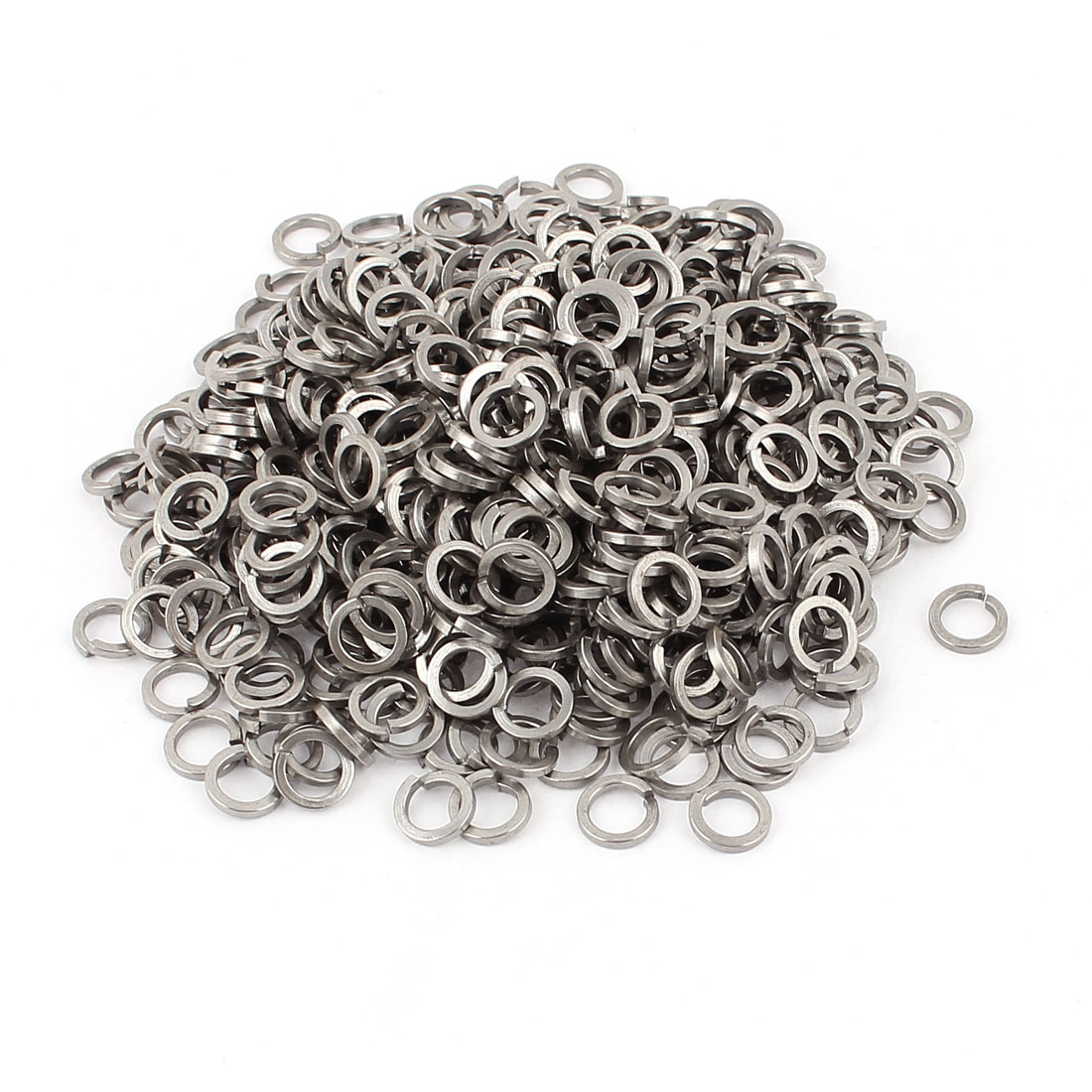 500pcs 304 Stainless Steel M6 Spring Lock Washer Gasket Square Section