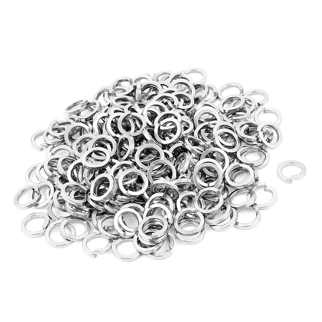 200pcs Stainless Steel M8 Split Lock Spring Washers Screw Pads