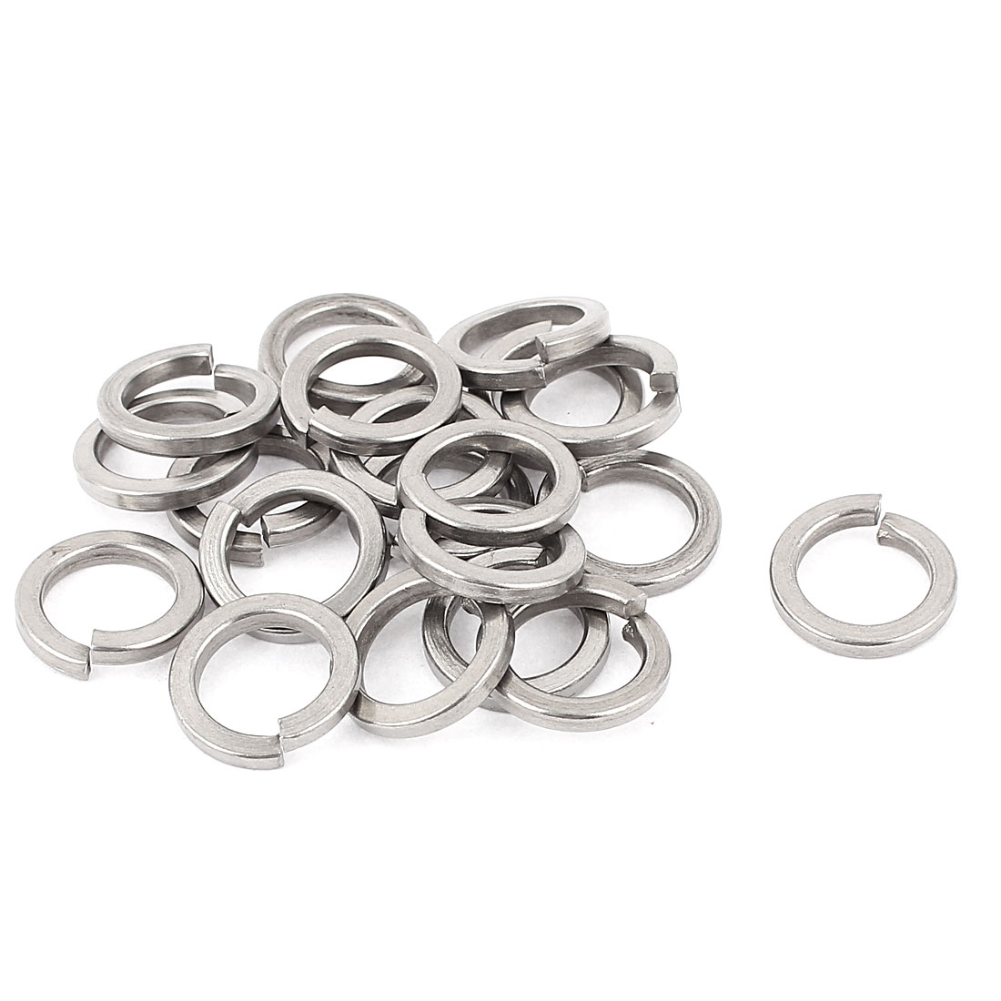 20pcs 304 Stainless Steel M14 Spring Washer Split Lock Washers Silver Tone