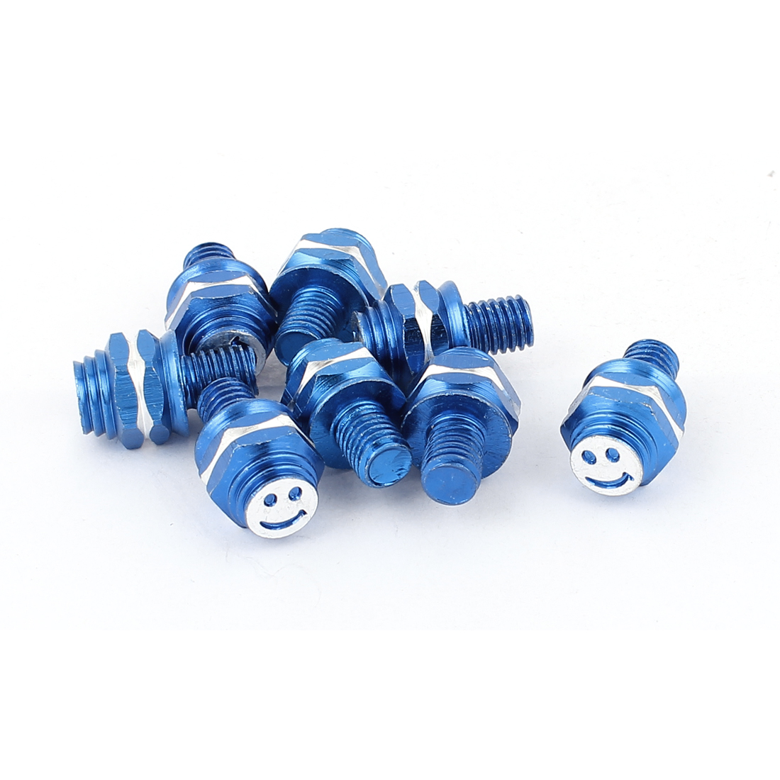 Car Motorcycle Custom Tag License Plate Frame Bolts Screws Blue 8pcs