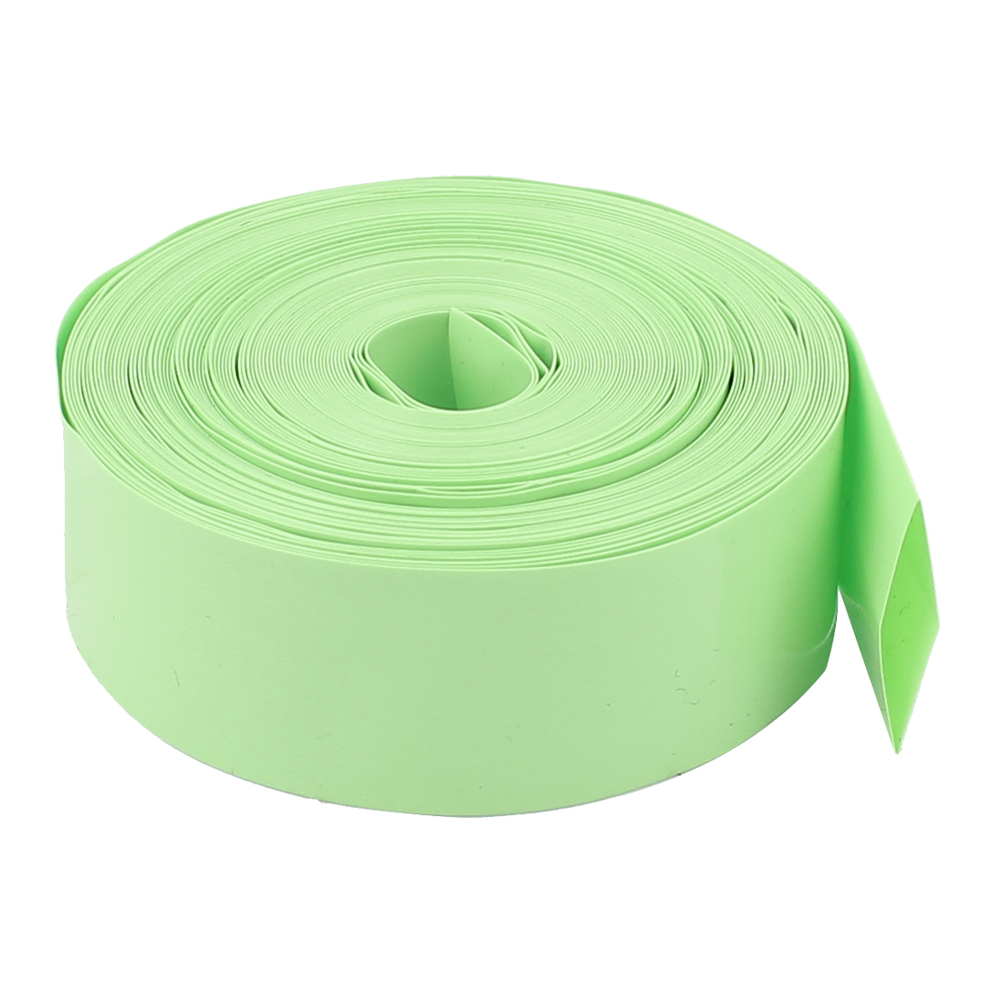 10M 23mm Width PVC Heat Shrink Wrap Tube Green for 1 x AA Battery