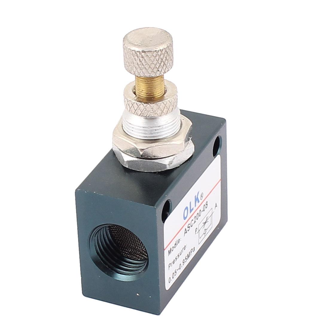 1/4PT Thread Dia Single Way Pneumatic Hydraulic Flow Control Valve