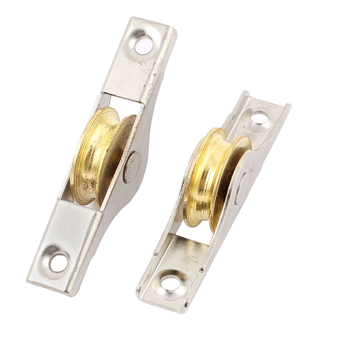 2 Pcs 5mm Slot Width 22mm Diameter Rolling Wheel Sliding Furniture Sash Doors Single Roller Axle Window Pulley