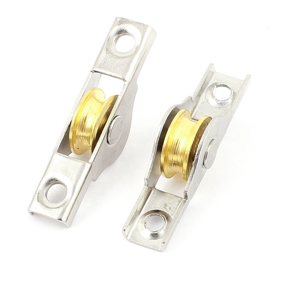 2 Pcs 4mm Slot 16mm Diameter Wheel Sliding Sash Doors Single Roller Axle Window Pulley 50mm Long