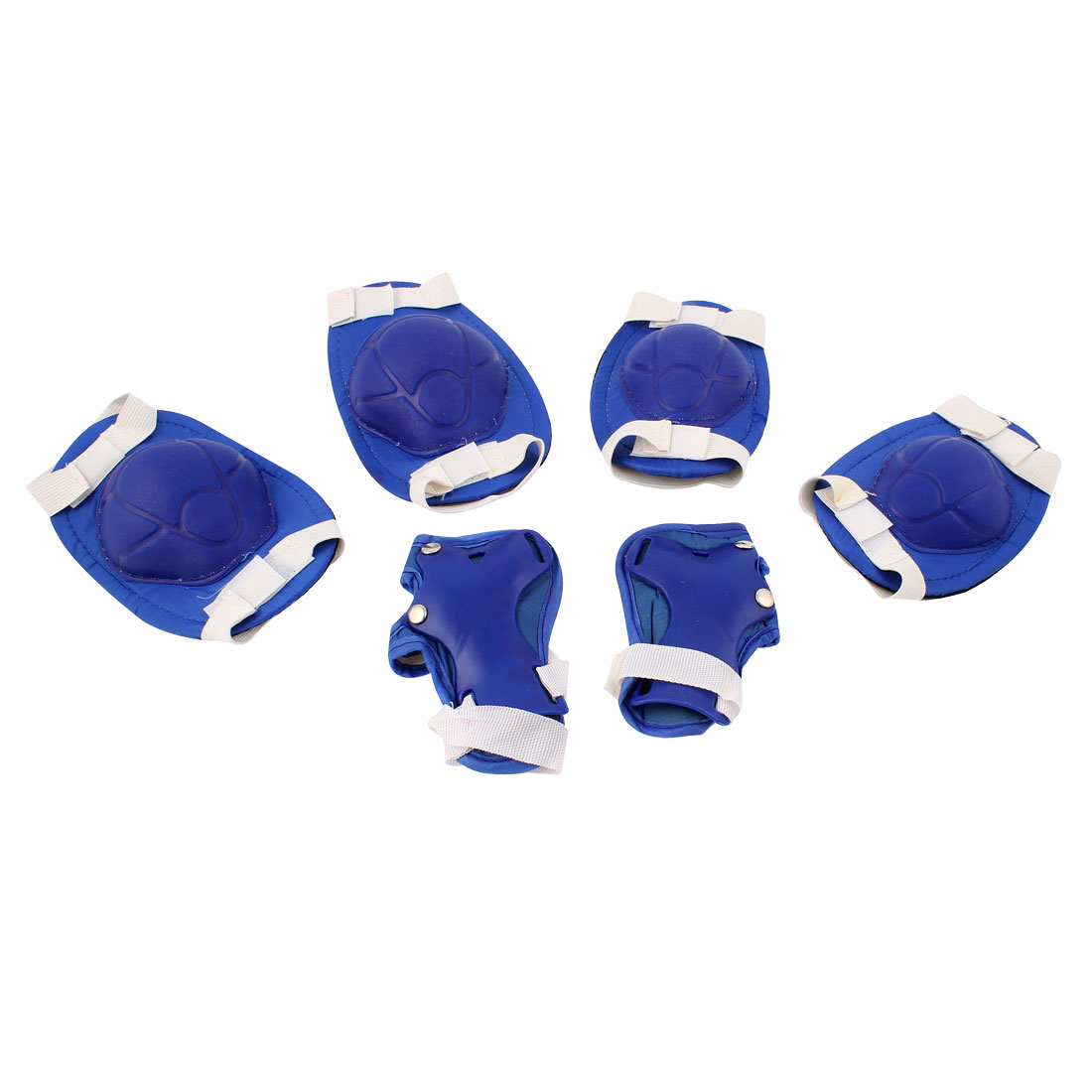6 in 1 Skiing Skating Palm Elbow Knee Support Protector Blue