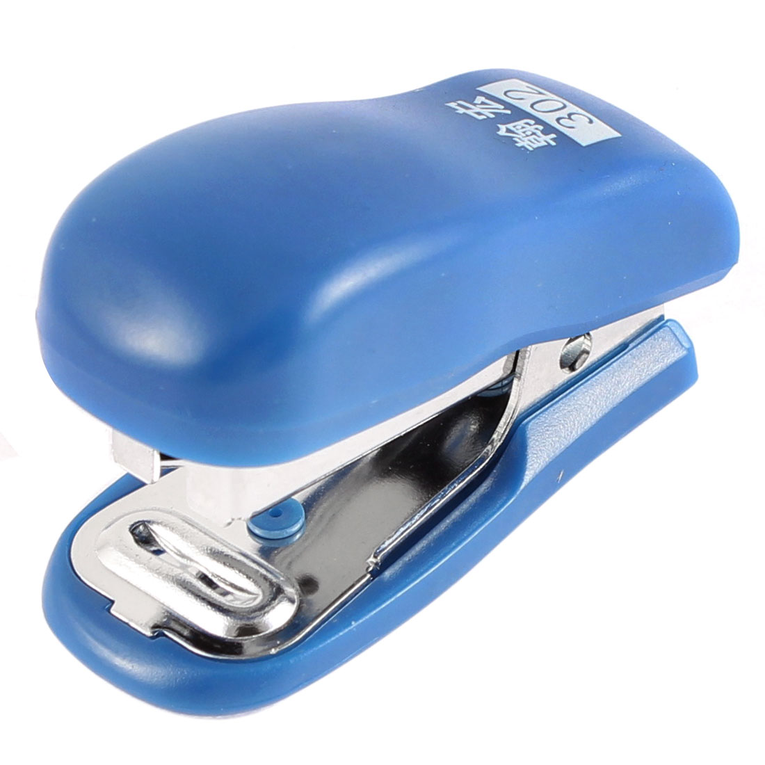Office School Plastic Shell Portable Hand Press Mini Stapler Blue