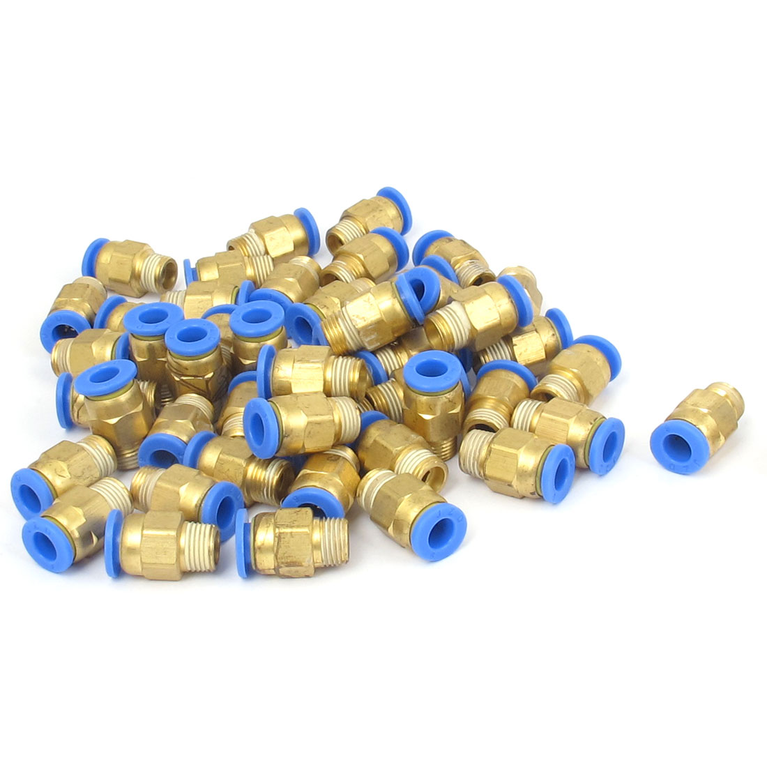 50 Pcs 1/8BSP Male Threaded 6mm Push in Joint Pneumatic Connector Quick Fittings