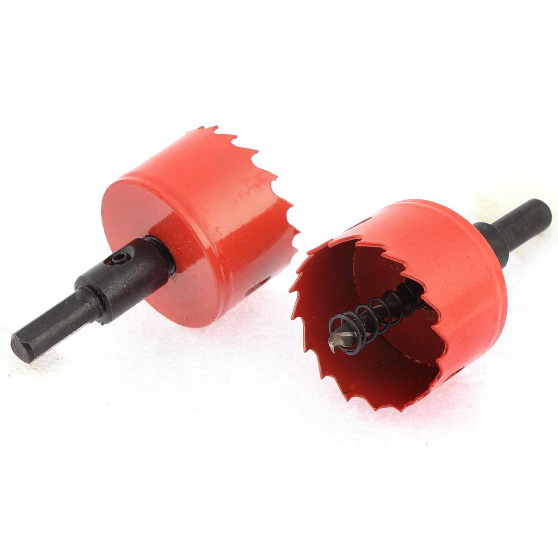 45mm Dia Twist Drill Bit BI Metal Hole Saw Cutter 2 Pcs for Aluminum Iron Wood