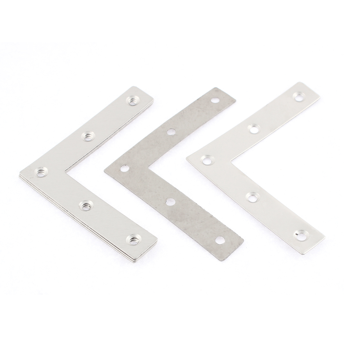 5 Pcs 80mm x 80mm Stainless Steel Flat Corner Brace Fixing Repair Bracket Plates