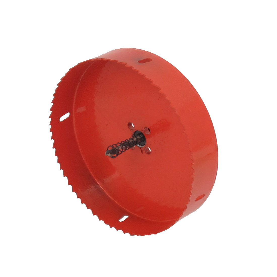 6mm Drill Bit 160mm Cutting Diameter Hole Saw Red for Drilling Wood