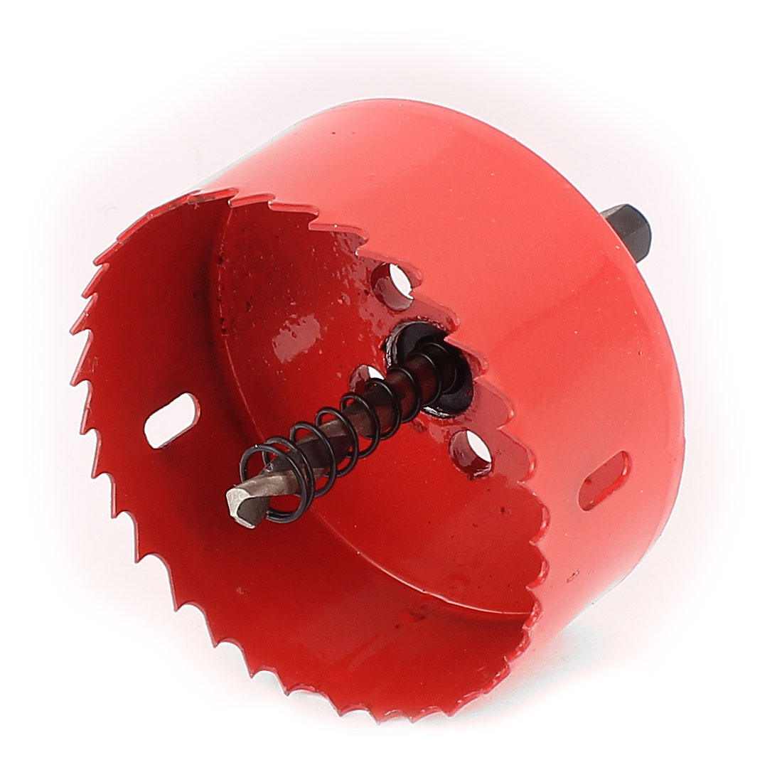 6mm Drill Bit 80mm Cutting Diameter Hole Saw Red for Drilling Wood