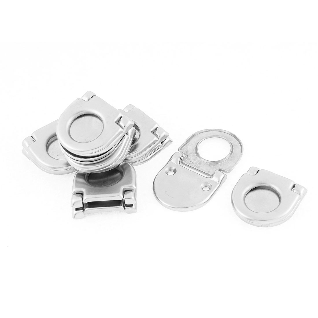 12 Pcs Hardware Open Mounted Chest Drawer Shoe Box Door Ring Pull Handle Knob