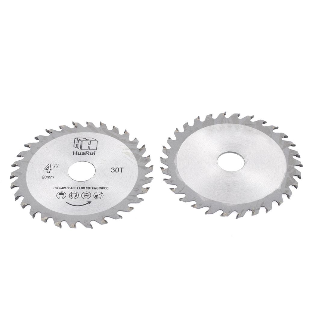 2 Pcs 105mmx20mmx1mm 30 Teeth Circular Cutting Saw Cutter Hand Tool