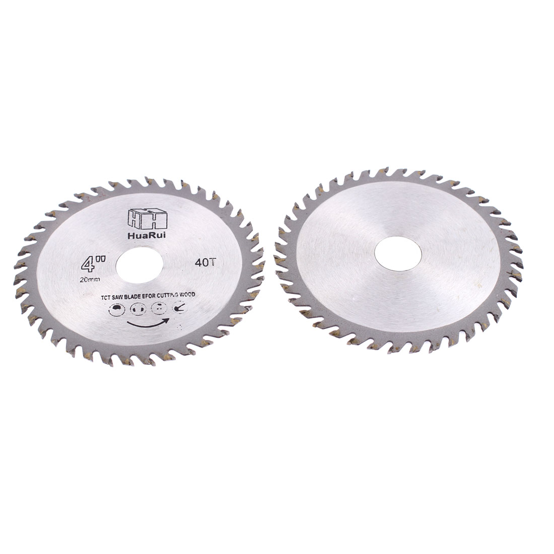 2 Pcs 110mmx20mmx1mm 40 Teeth Circular Cutting Saw Cutter Hand Tool