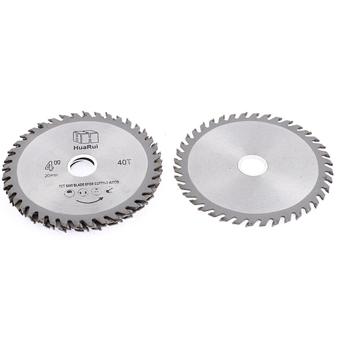 5 Pcs 110mmx20mmx1mm 40 Teeth Circular Cutting TCT Saw Cutter Hand Tool
